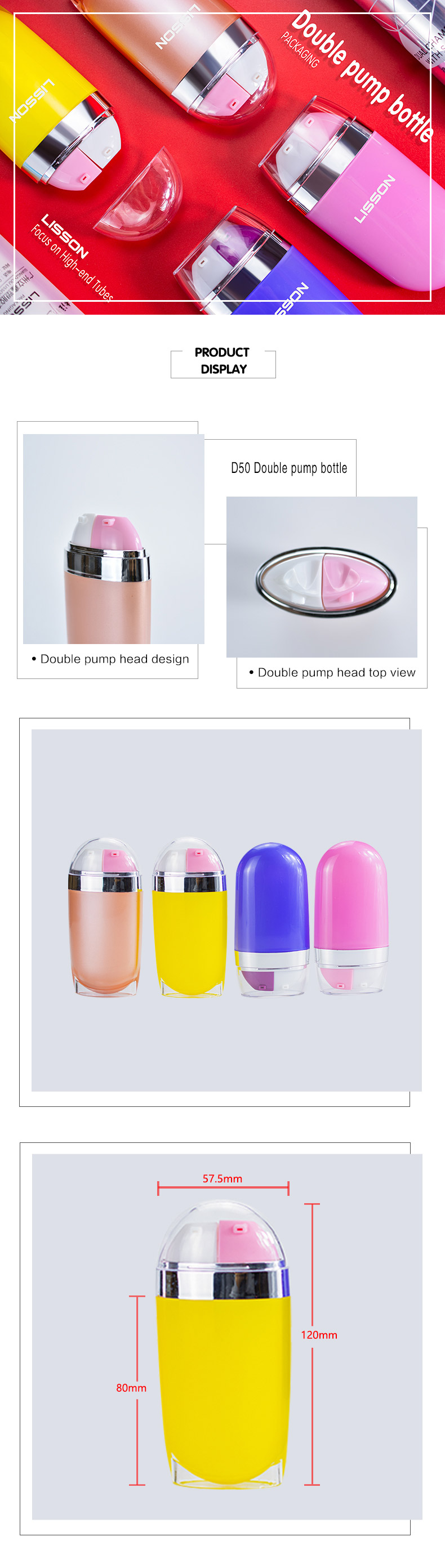 40ml Double Airless Pump Bottle